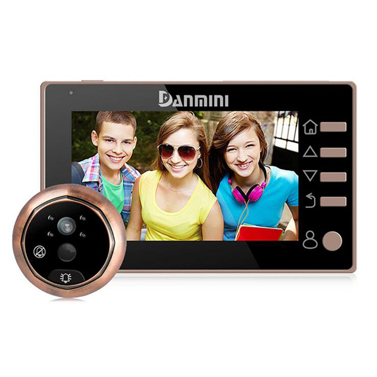 NEW 4.3 inch LCD Screen No Disturb Peephole Viewer Camera Door Eye Video Record IR Night Vision Home Security Safety hmx h220 camera lcd shows screen new