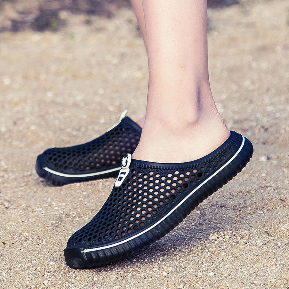 YOUYEDIAN 2019 Summer Men Slippers Hollow Out Beach Slippers Casaul Shoes Men Sandals Flip Flops Home Slippers