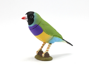 Image 5 - Japan genuine bulk animals Crested Ibis Tufted Puffin parrot woodpecker owl figurine extinct collectible figures for children