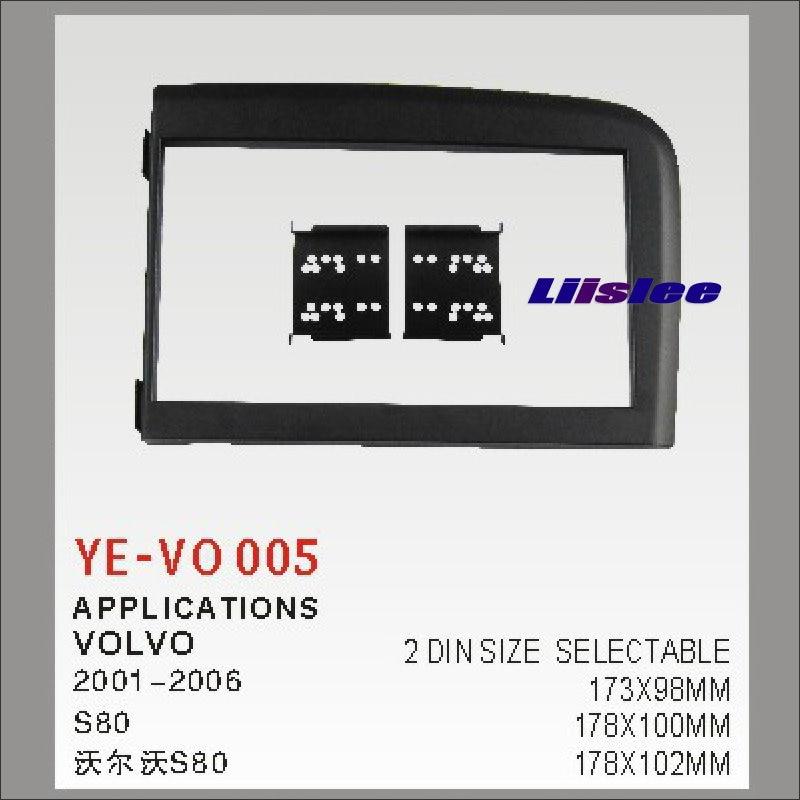 imágenes para 2 DIN Coche Que Reinstala el Marco Del Panel Para Volvo S80 2001-2006 Radio CD Reproductor de DVD estéreo NAVI Navegación/Dashboard Fascia ABDOMINALES Kits