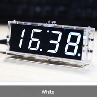 2016 Hot Sale DIY 4 Digit Electronic Large Screen LED Clock Kit Red Blue Green 4