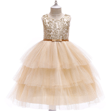 2019 Girls Dresses Mesh Cake Dresses Girls Europe and The United States Explosions Holiday Dress Flower Girl  Dress summer girl a birthday present europe and the united states girls holiday dress nail bead butterfly knot dress cake girls