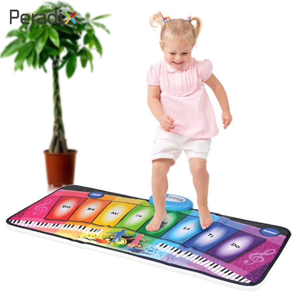 Electronic Carpet Piano Toy Creep Cushion Paded Music Dancing Preschool 11 key electronic music box piano toy red 3 x aa