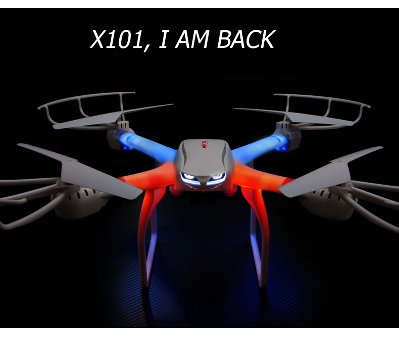 MJX X101 Quadcopter 2.4G RC drone/drone rc helicopter 6-axis gyro can add C4005 c4008 camera(FPV) vs JJRC H16 Tarantula x6 V686G 2015 brand new jjrc h8c rc quadcopter with 2 0mp camera drone vs x5c x5sw jjrc h12c h16 mjx x101 x400 x600 x800