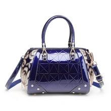 цены New Luxury Europe Fashion Women Bag Embroidery Sequin Patent Leather Famous Brand Shoulder Handbag Ladies Messenger bags female