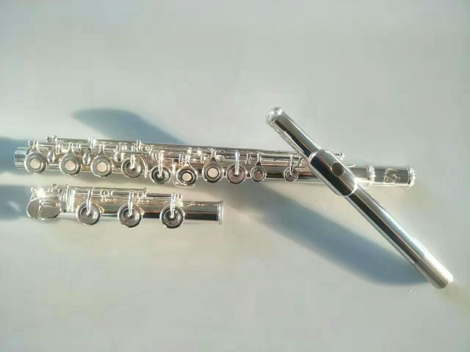 Highquality Silve Japan flute FL 211SL musical instrument Flute 16 over C Tune and E Key Flute music professional Free shipping