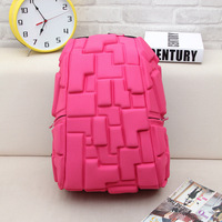 Trend Girl Designer Campus Wind Personality Game Blocks Style Bags Travel Backpacks Men S Large Capacity