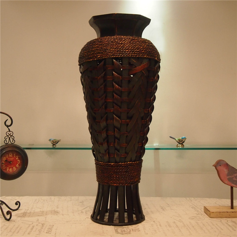 Table Classic Large Floor Bamboo Vase Fashion Home Decor Craft