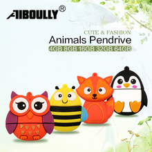 Pendrives USB Stick 4GB Animals Cartoon Flash Drives 16GB 32GB 64GB