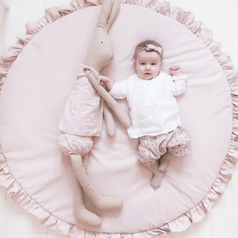 Cheap Price 90cm Kids Play Game Mats Cotton Animals Round Carpet Rugs Newborn Bedding Floor Crawling Rug Blanket Baby Room Decor Pad Mother & Kids