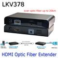 LKV378 HDMI Волоконно-оптические Extender С ИК Расширение Расширение 20 Км HDMI Extender 1080 P Одиночный Режим Одиночное Волокно SC Для HDTV проект
