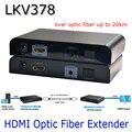 LKV378 HDMI Extender Fibra Óptica Com Extensão IR Estender 20Km Extensor HDMI 1080 P Única Fibra Monomodo SC Para HDTV projeto