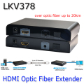 LKV378 HDMI Optic Fiber Extender With IR Extension Extend 20Km HDMI Extender 1080P Single Mode Single Fiber SC For HDTV Project