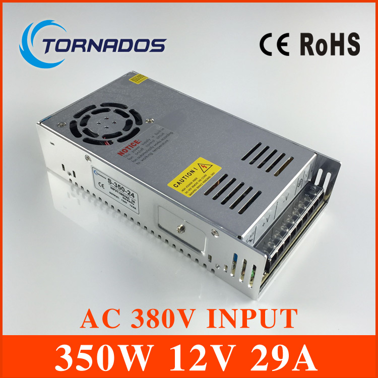 AC 380V input 12V 29A output 350W switching power supply of high reliability industrial switch power supply AC-DC Converter 20pcs 350w 12v 29a power supply 12v 29a 350w ac dc 100 240v s 350 12 dc12v