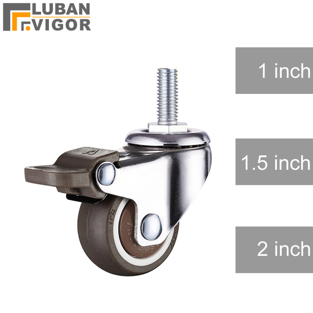 US $6 9 | So good,Super mute wheels/casters,TPE wheel with brake,Anti wrap  wheel,bear 20/30/40kg,For furniture,,home hardware-in Casters from Home