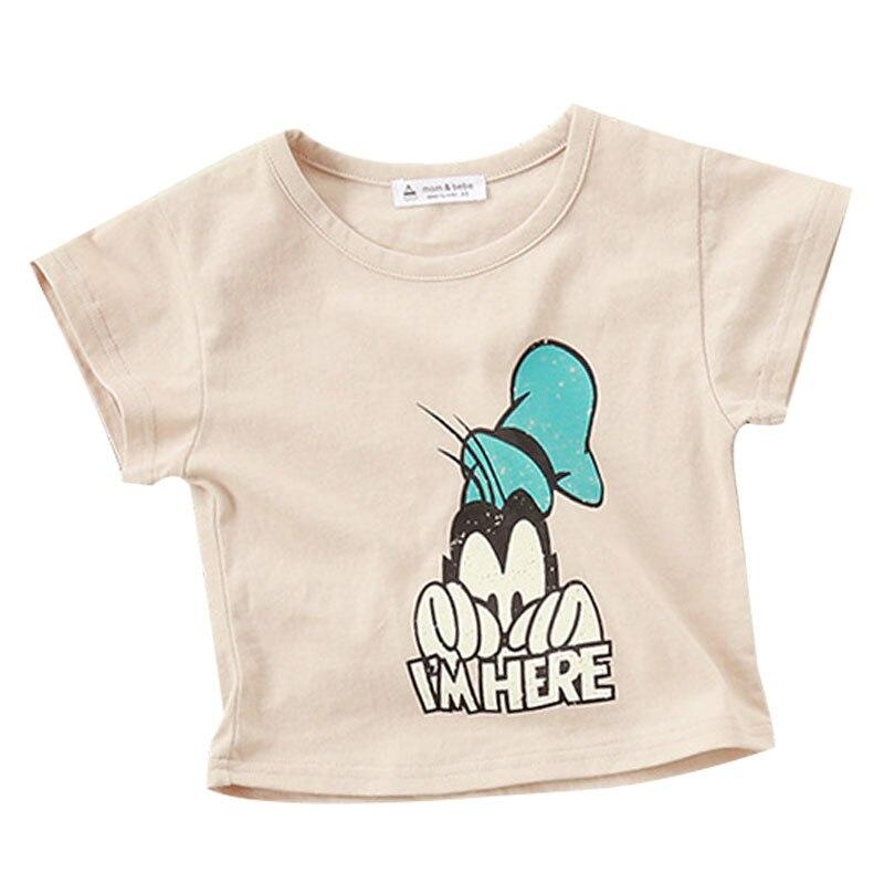 2016 stile Coreano sveglio di estate ragazzo dei bambini della Maglietta  del bambino del cotone delle ragazze del fumetto manica corta O-Collo  bambini ... 5506425a5c0