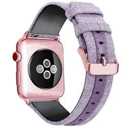 Сменный ремешок для Apple Watch 40 мм 44 мм роскошный кожаный холщовый браслет для iWatch серии 4 Smartband