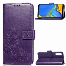 цена на For Samsung Galaxy A7 Case Luxury Leather Flip Wallet Phone Case For Samsung Galaxy A7 2018 Cover For Samsung A7 Fundas Coque