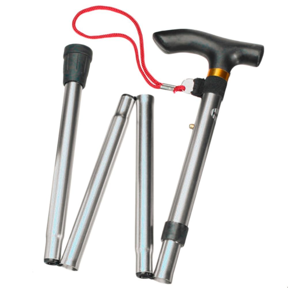 4sections Aluminum Alloy Adjustable Canes Folding Trekking Poles Hiking Pole Walking Stick High Quality