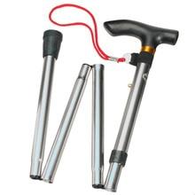 4 секции алюминиевый сплав регулируемые трости складные треккинговые палки походные палки трость высокого качества