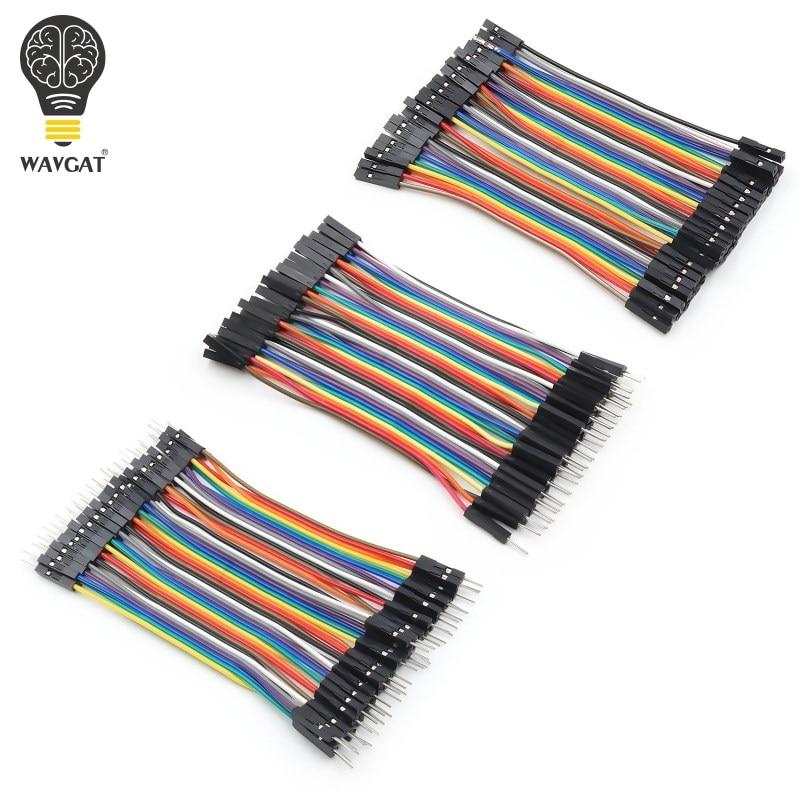 WAVGAT Dupont Line 120 шт. 10 см мужской+ Женский Мужской и Женский Соединительный провод Dupont кабель для arduino DIY KIT