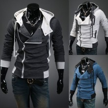 Free Shipping 2016 Fashion Casual Slim Cardigan Assassins Creed Hoodies Men Sweatshirt Outerwear Jackets Plus Size xxxxl Hoodies