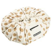 Золотой горошек холст круглый пол игровой коврик игрушка сумка для хранения мешок пол ковер для детской комнаты