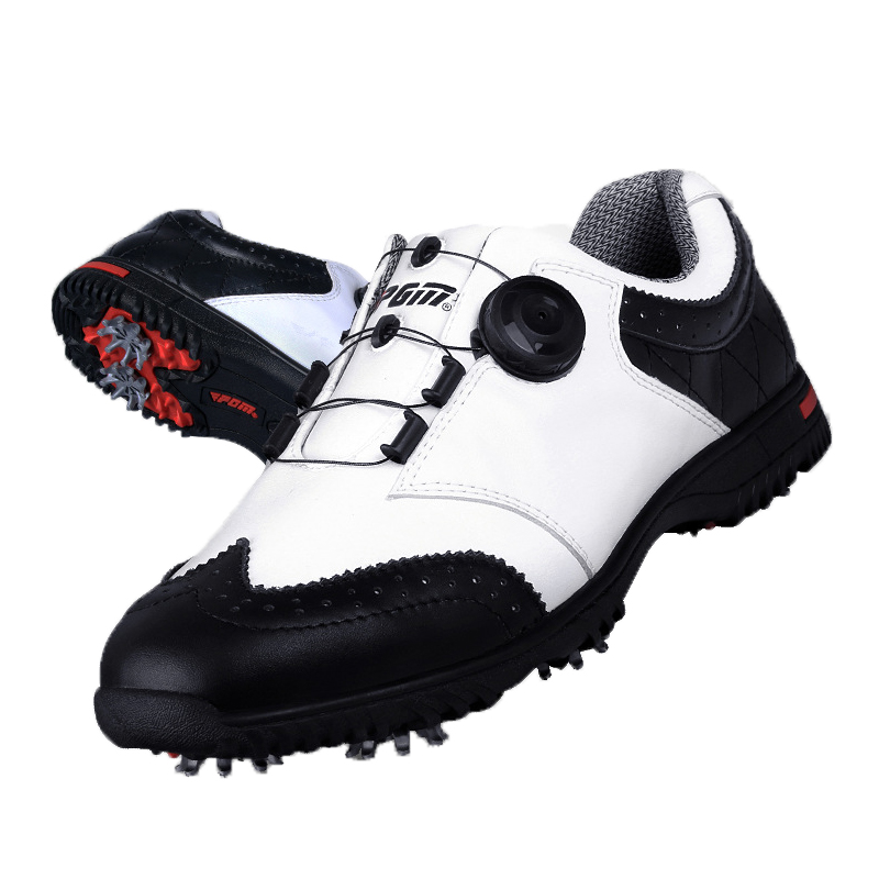 2017 PGM Genuine leather Breathable Waterproof Golf Shoes Men Movable soft spike golf shoes with laces rotating device 2017 pgm genuine leather breathable waterproof golf shoes men movable soft spike golf shoes with laces rotating device