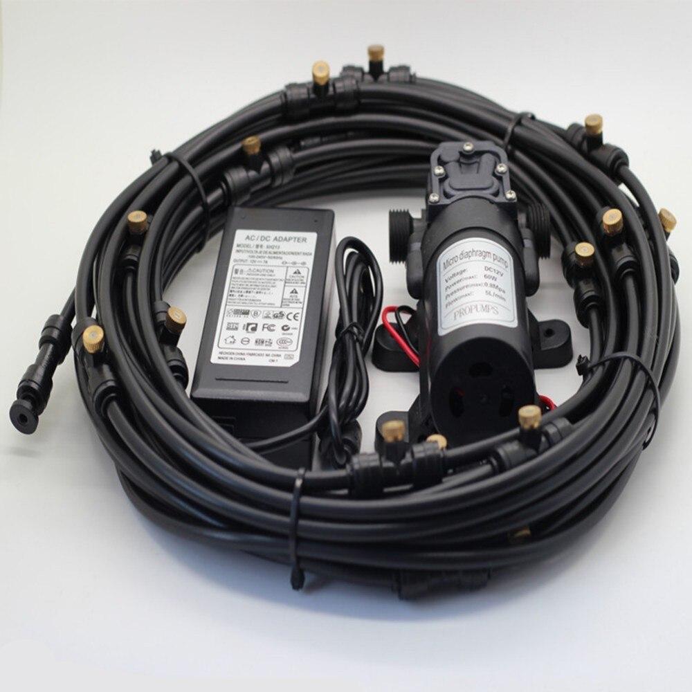 Bomba de alta pressão da névoa do diafragma do impulsionador 12 v 5l/min160psi da bomba de água com tubo do pe do produto comestível para o sistema de refrigeração exterior