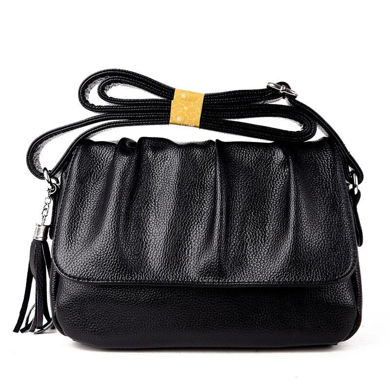 Hot European American style Genuine Leather Cowhide Women handbags Fashion Women shoulder bags genuine leather
