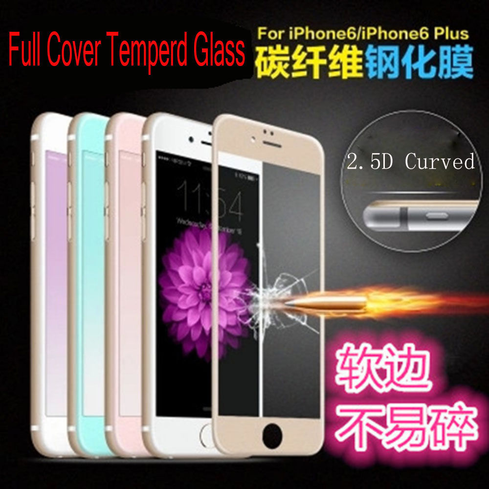 Full Cover Tempered Glass Screen Protector Protective Film For iphone 6/6S+ Plus 5.5