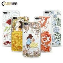 CASEIER Bling Diamond Case For iPhone 8 7 Plus Capa Luxury Built-in Crystal Rhinestone Soft TPU Cover Shell Girls