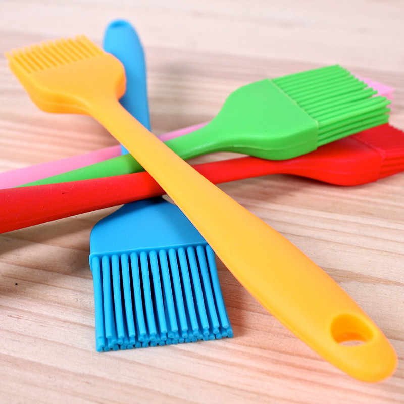 Hoomall Silicone Basting Pastry Brush 21*3cm Multi Color Oil Brushes For BBQ Brush Baking Tools Cake Bread Butter Safety