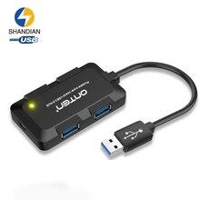 Mini 4-Port USB 3.0 Hub Splitter Adapter Ultra Speed 5Gbps USB Hub for Laptop Computer PC High Power Supply Hub Adapter USB 3.0