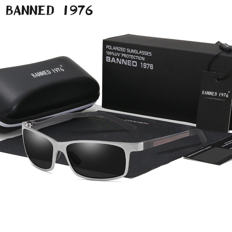 BANNED 1976 Men HD Polarized Sunglasses Aluminum Magnesium Sun Glasses Cool Driving Glasses Shades For Men Oculos masculino Male image