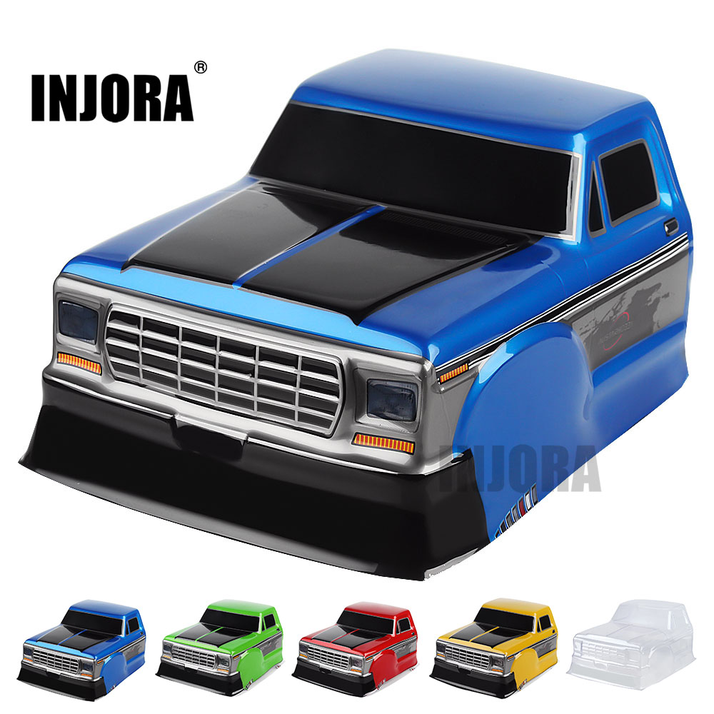 INJORA RC Car Half Pickup Head Body Shell F150 For 1/10 RC Crawler Axial SCX10 90046 Traxxas TRX4 D90 MST