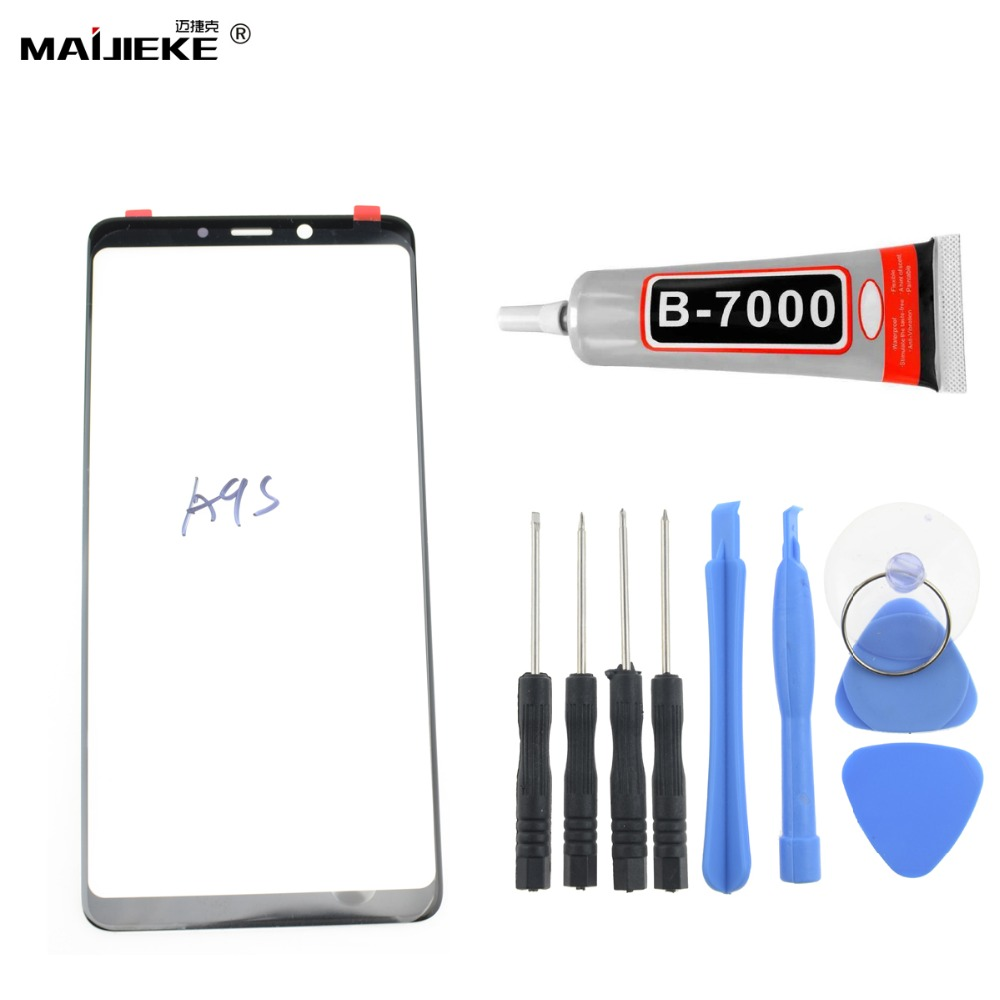 New Front Glass Lens Touch Panel Replacement for Samsung Galaxy A9 2018 A9s Screen Outer Glass Repair Tools+9ml <font><b>B9000</b></font> <font><b>Glue</b></font> image