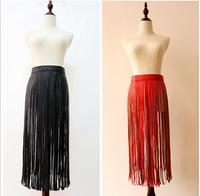 New Brand Designer Faux Leather Skirt Women S Fringe Belts Straps High Quality Corset For Female