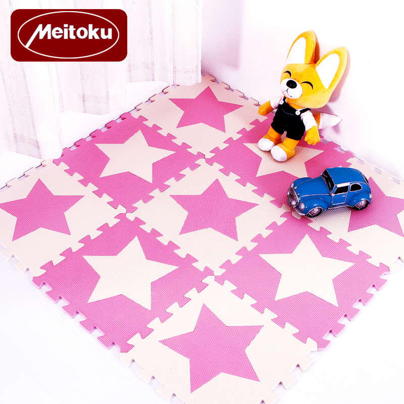 Meitoku-Baby-EVA-Foam-Puzzle-Play-Mat-kids-Star-Rugs-Toys-carpet-for-childrens-Interlocking-Exercise-Floor-TilesEach30cmX30cm-2