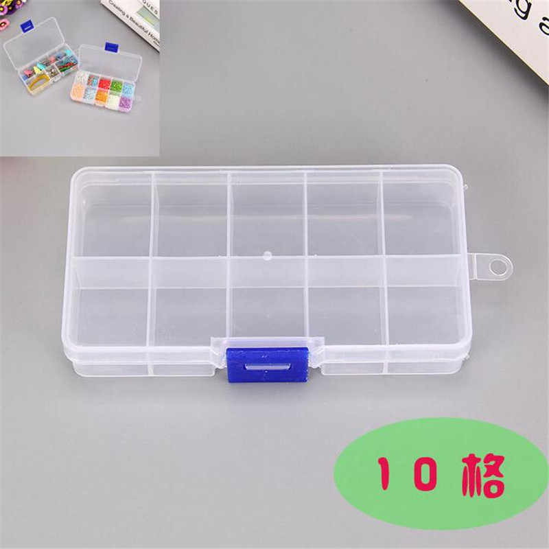 12.8*6*2.3cm 10 grid adjustable Jewelry Packaging Display storage box fj828