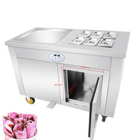 Commecial Stainless Steel Fried Ice Cream Maker Ice Cream Roll Machine Ice Cream Rolled Yogurt Maker Fried Ice Cream Machine