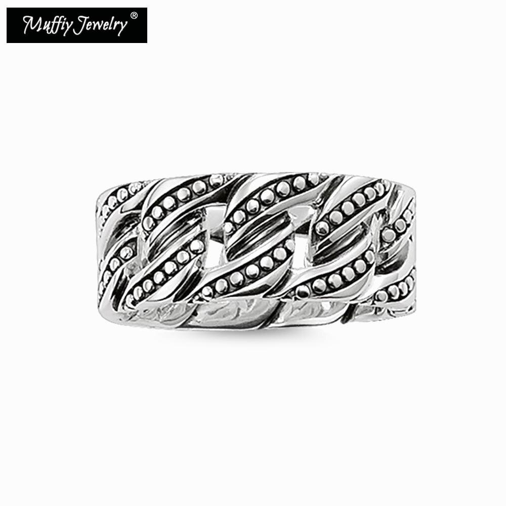₩S de Sharp anillo Cable, Thomas estilo glam moda buena joyería