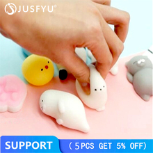 3D Squishy Cute Cat Claw TPU Soft Case For iPhone 4 4S Fashion Girl Animals Seal Sea Lion On 4S 3.5