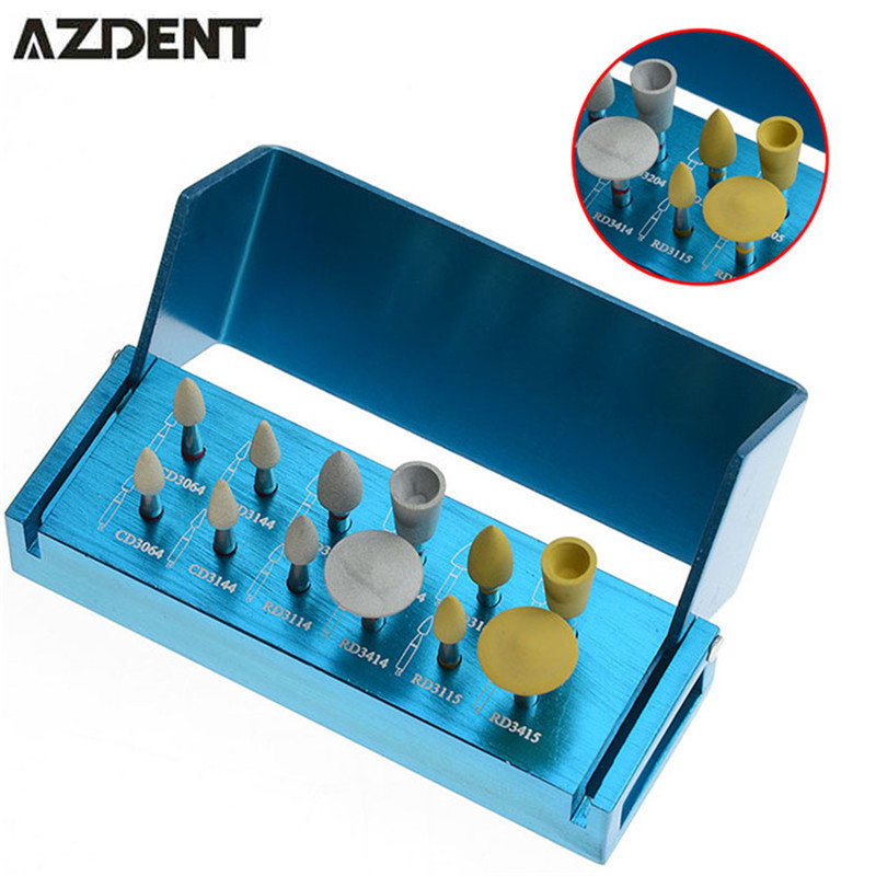 1 Set Diamond Polishing Set for zirconia For Dental Clinic Low Speed Contra Angle Grinding Head