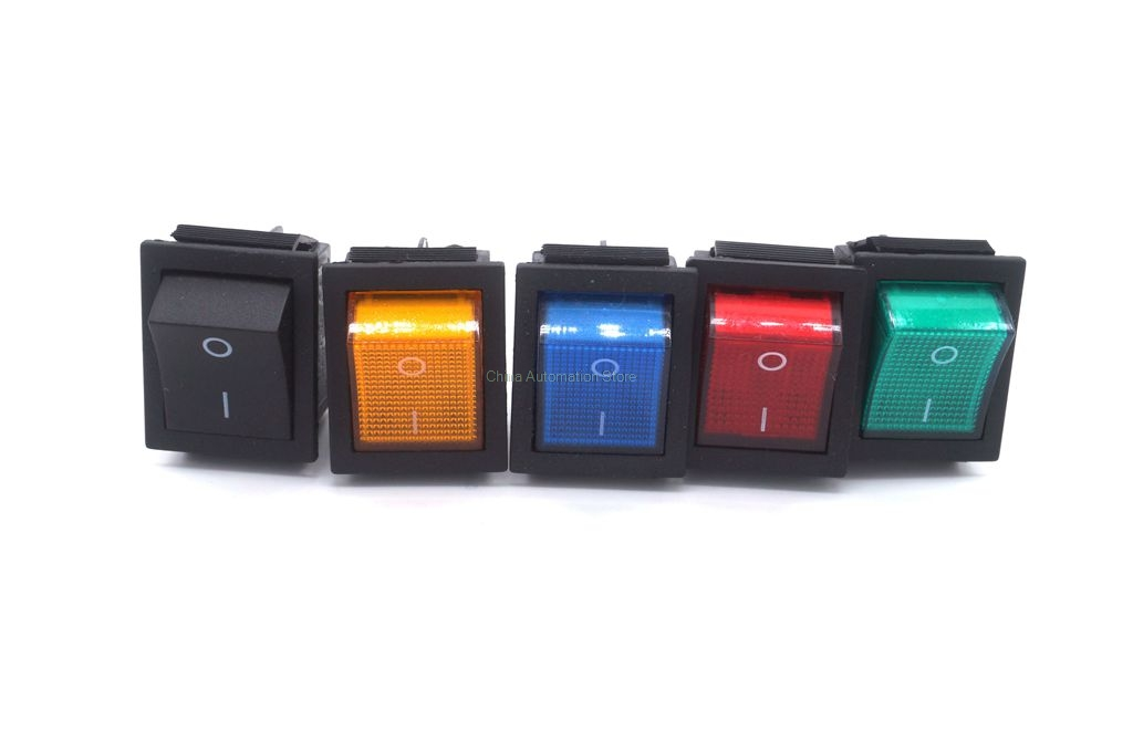Latching Rocker Switch Power Switch I/O 4 Pins and 6 Pins With Light 16A 250VAC 20A 125VAC KCD4