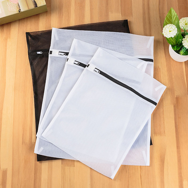 Hot 4pcs Set Clothes Laundry Mesh Net Bag Pouch For Washing Machine Bra Underwear XJS789