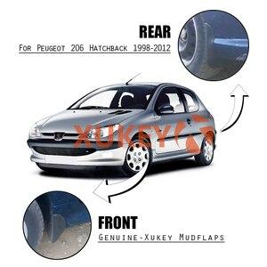 Image 5 - Mudflaps עבור Peugeot Naza 206 Bestari 1998   2012 בוץ משמרות Splash מדפי מגני בץ קדמי אחורי 1999 2000 2001 2002 2011 2010