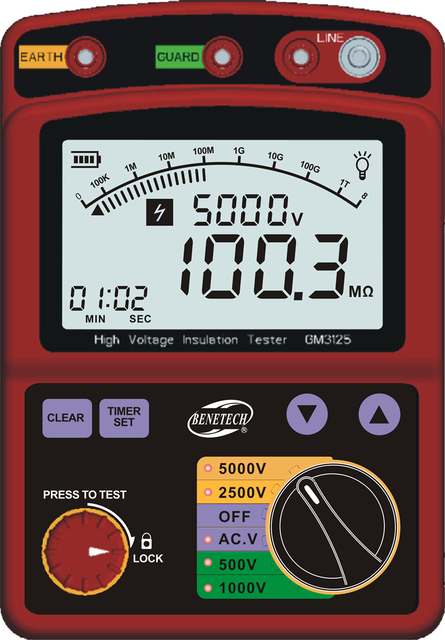 LCD Hohe Spannung Isolierung Tester Tragbare Digitale Isolierung Widerstand Meter 600 V DC/AC Spannung Tester Auto Entladung GM3125