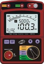 Medidor portátil 600 v dc/ac da resistência da isolação de digitas do verificador da isolação da alta tensão do lcd descarga automática gm3125