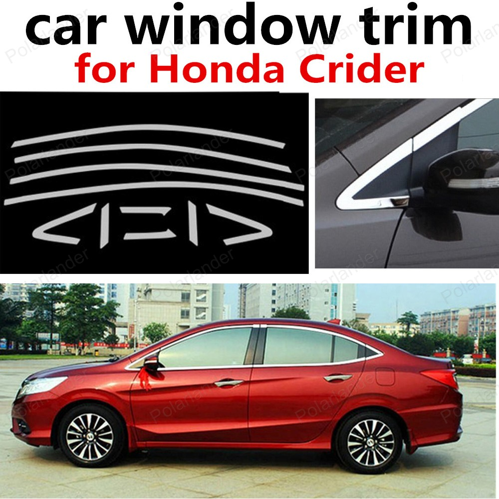 hot sell Decoration Strips Stainless Steel for Honda Crider Without Middle Pillar Car Styling Window Trim stainless steel full window with center pillar decoration trim car accessories for hyundai ix35 2013 2014 2015 24